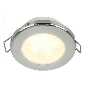 "Hella Marine EuroLED 75 3"" Round Spring Mount Down Light - Warm White LED - Stainless Steel Rim - 24V"