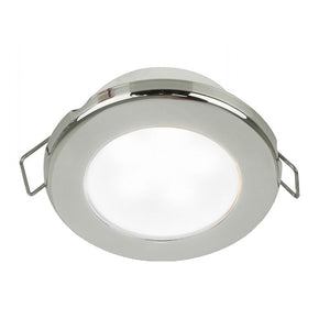 "Hella Marine EuroLED 75 3"" Round Spring Mount Down Light - White LED - Stainless Steel Rim - 12V"
