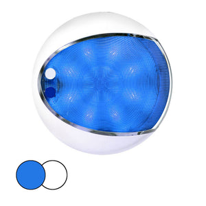 Hella Marine EuroLED 175 Surface Mount Touch Lamp - Blue-White LED - White Housing