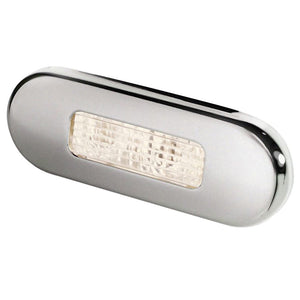 Hella Marine Surface Mount Oblong LED Courtesy Lamp - Warm White LED - Stainless Steel Bezel