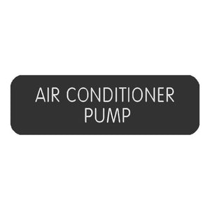 "Blue SeaLarge Format Label - ""Air Conditioner Pump"""