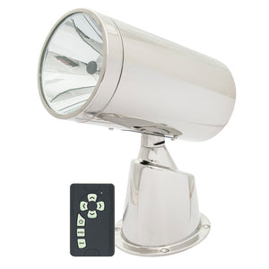 Marinco Wireless Stainless Steel Spotlight/Floodlight w/Remote