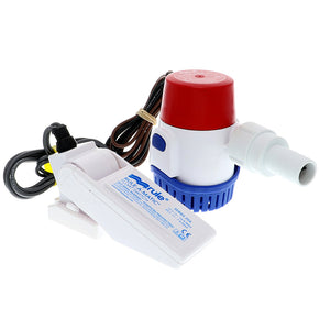 Rule 500 GPH Standard Bilge Pump Kit w/Float Switch - 12V