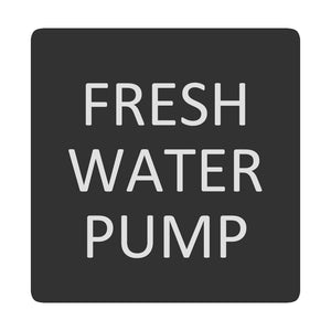 Blue Sea 6520-0200 Square Format Fresh Water Pump Label