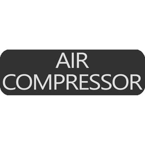 Blue Sea 8063-0025 Large Format Air Compressor Label