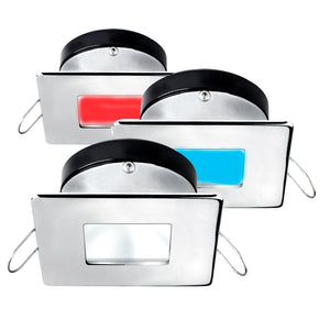 i2Systems Apeiron A1120 Spring Mount Light - Square/Square - Red, Warm White  Blue - Polished Chrome
