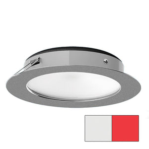 i2Systems Apeiron Pro XL A526 - 6W Spring Mount Light - Cool White/Red - Brushed Nickel Finish