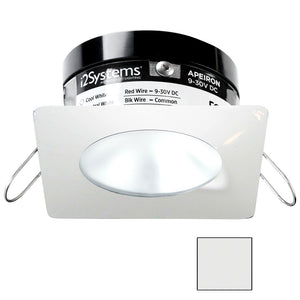 i2Systems Apeiron PRO A503 - 3W Spring Mount Light - Square/Round - Cool White - White Finish