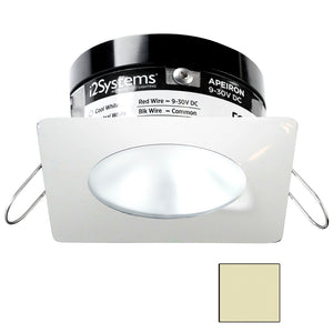 i2Systems Apeiron PRO A503 - 3W Spring Mount Light - Square/Round - Warm White - White Finish
