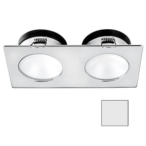 i2Systems Apeiron A1110Z - 4.5W Spring Mount Light - Double Round - Cool White - Brushed Nickel Finish