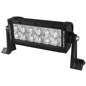 "Hella Marine Value Fit Sport Series 12 LED Flood Light Bar - 8"" - Black"