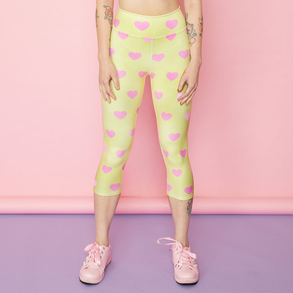 Pink Lemonade Capri Active Leggings