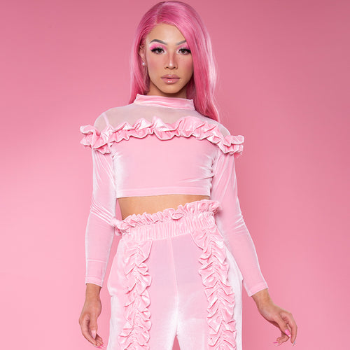 Pink Chocolate Crop Top