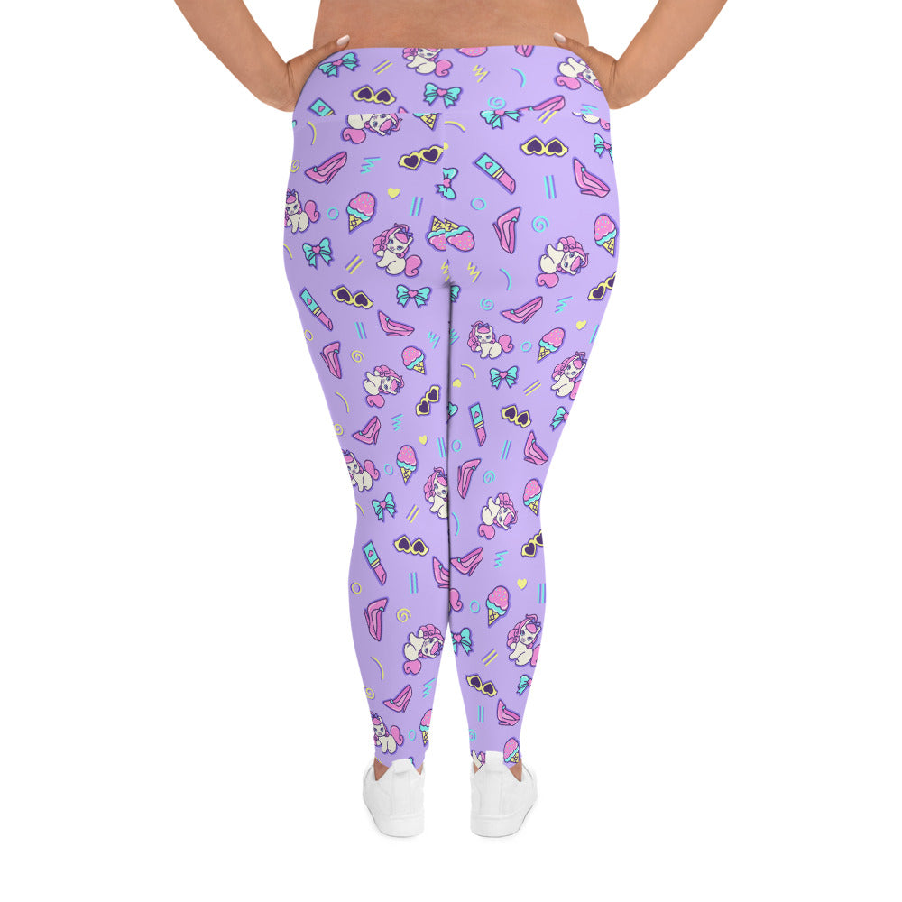 Retro Kawaii PLUS Active Leggings