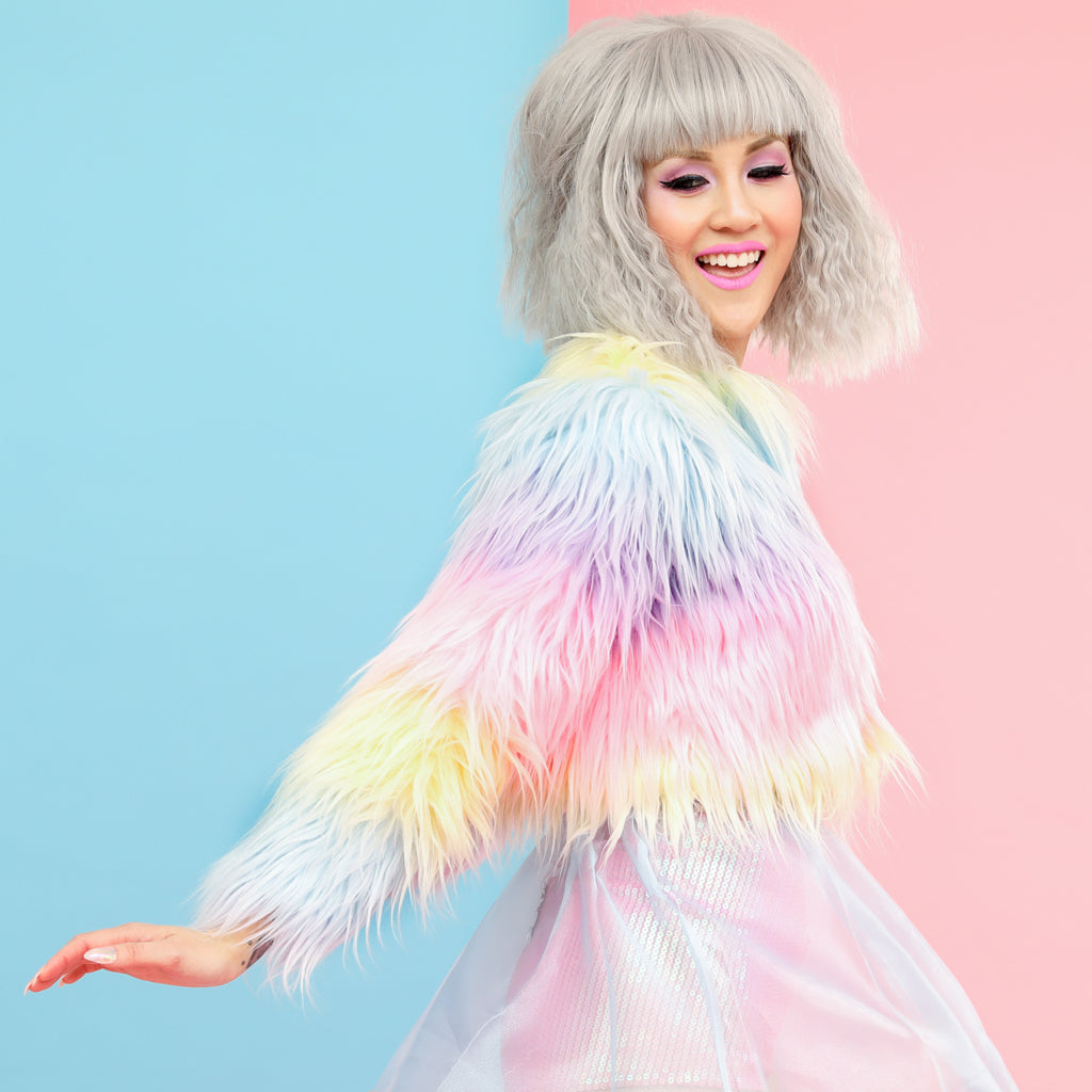 Pastel Dreams Furget Me Not Jacket