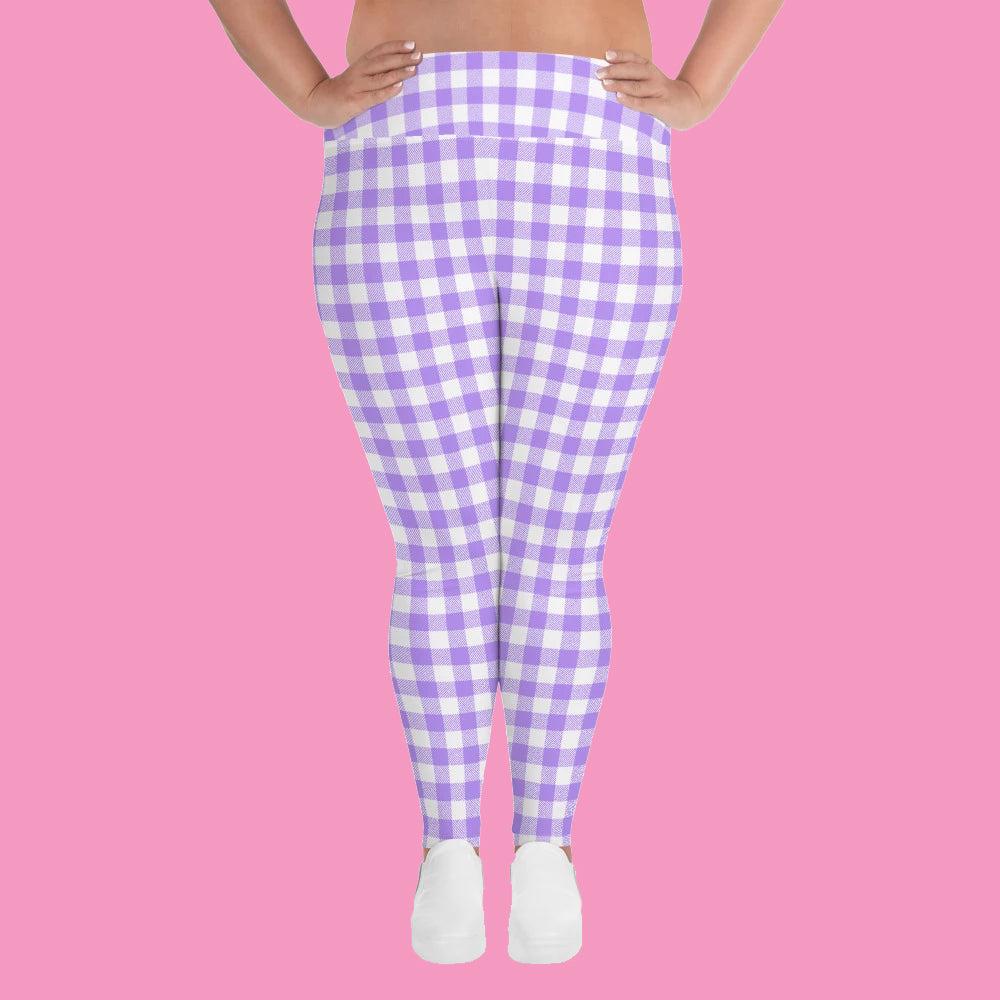 Pretty Picnic Lilac PLUS Active Leggings