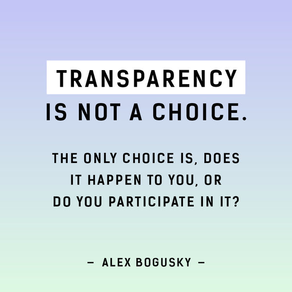 Transparency is not a choice - Fashion Revolution