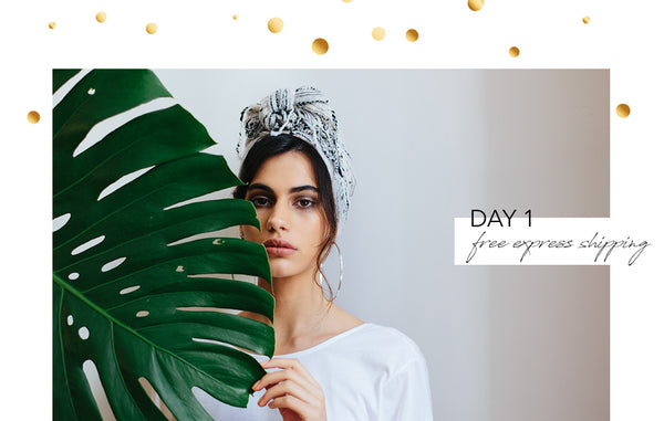 five days of festivities promo - day 1: free express shipping
