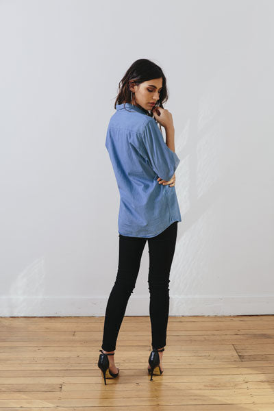 the boyfriend shirt - back - the mnml - affordable ethical clothing