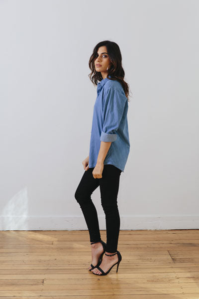 the boyfriend shirt - side - the mnml - affordable ethical clothing