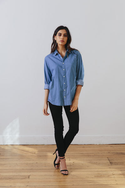 the boyfriend shirt - front - the mnml - affordable ethical clothing
