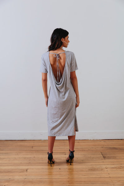 alternative back view of the grey marle the wanderer dress