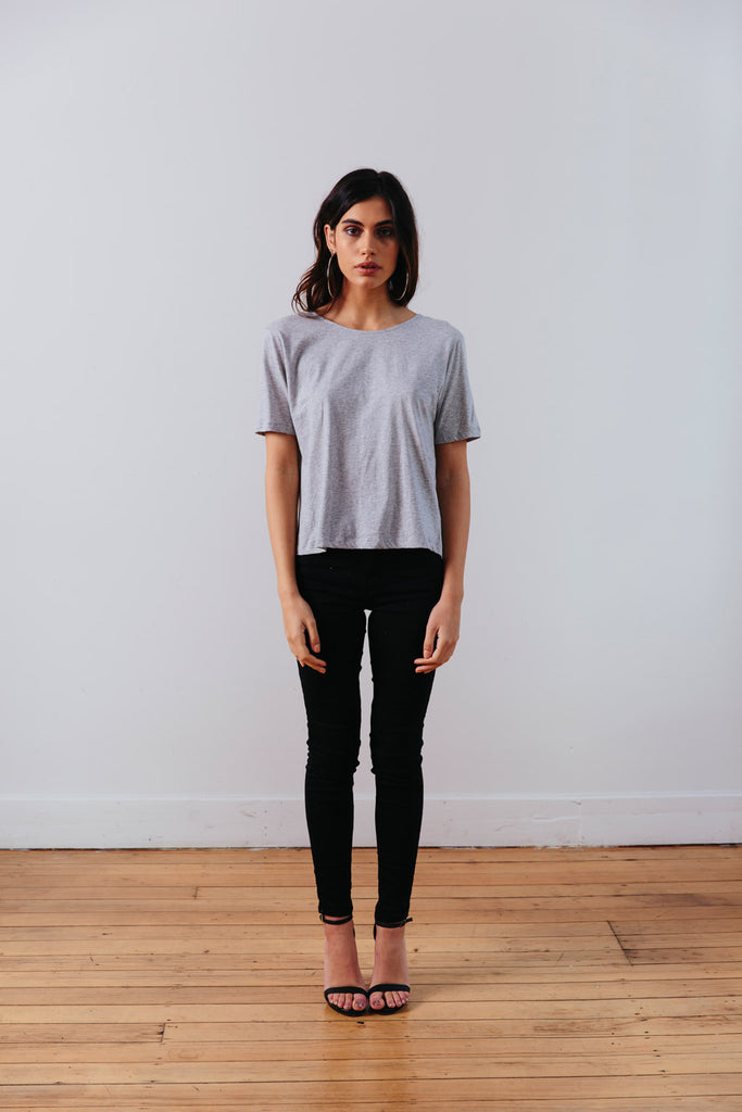 THE | WANDERER | TEE – GREY MARLE