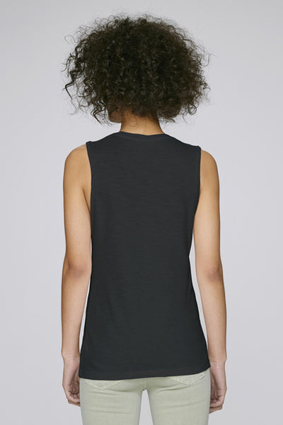 the doillon tank - black back - the mnml - affordable ethical clothing