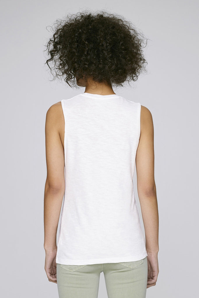 the doillon tank - white back - the mnml - affordable ethical clothing
