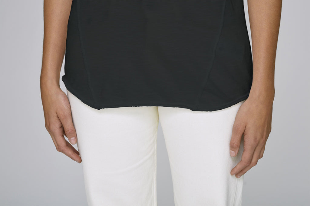 The MNML - affordable ethical clothing - the doillon tee - front detail