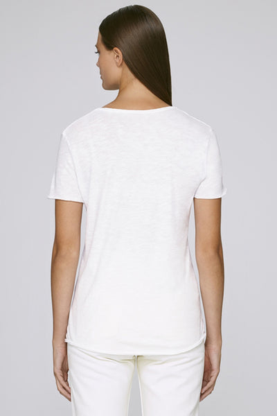 The MNML - affordable ethical clothing - the doillon tee white - back