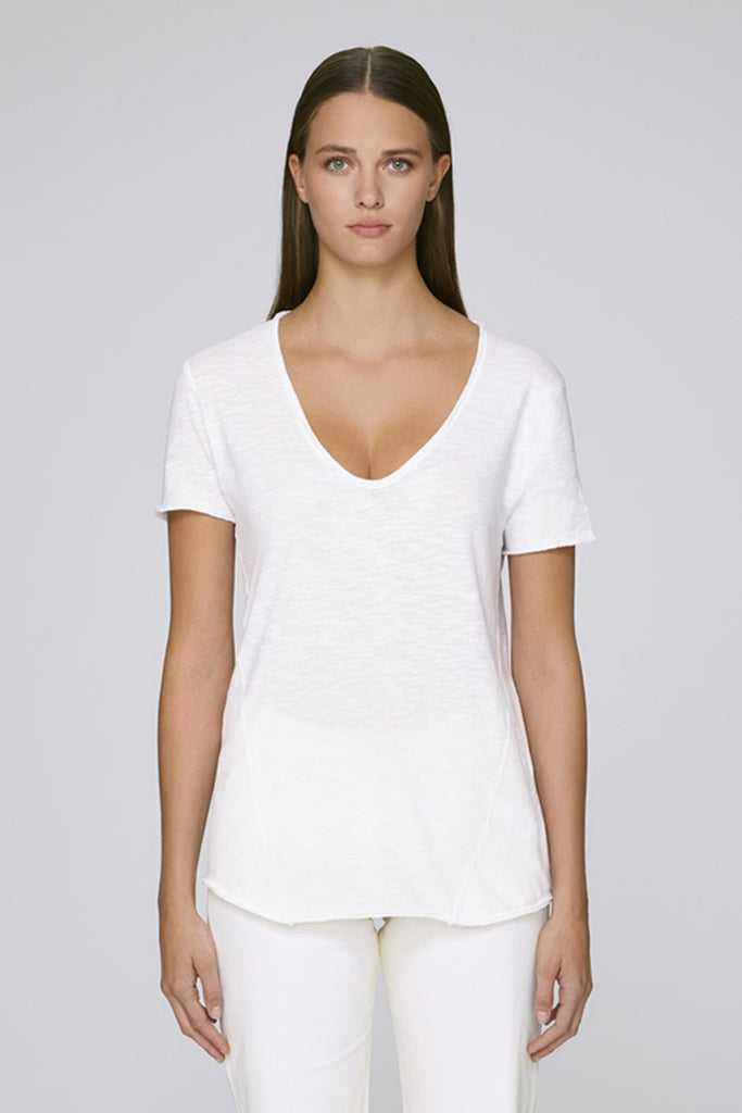 The MNML - affordable ethical clothing - the doillon tee white - front