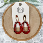 Myra Earrings - Cranberry
