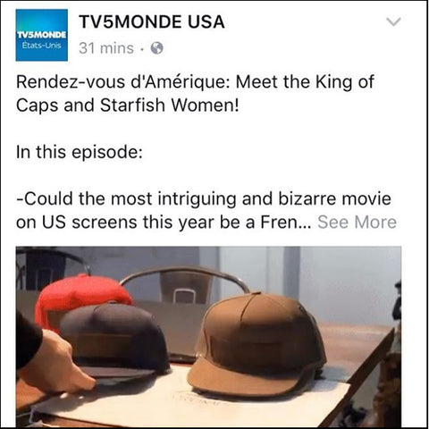 TV5 Monde USA documentary about PapaOriginals snapback caps