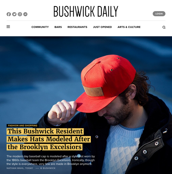 luxury snapback caps Papa Originals Bushwick Daily press article