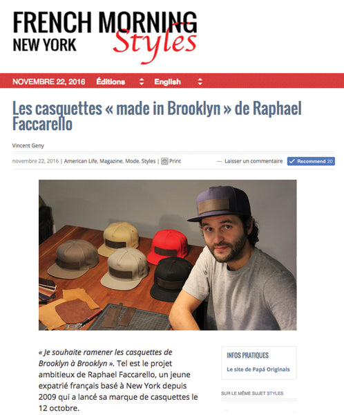 premium_snapback_caps_Papa_Originals_french_morning_article
