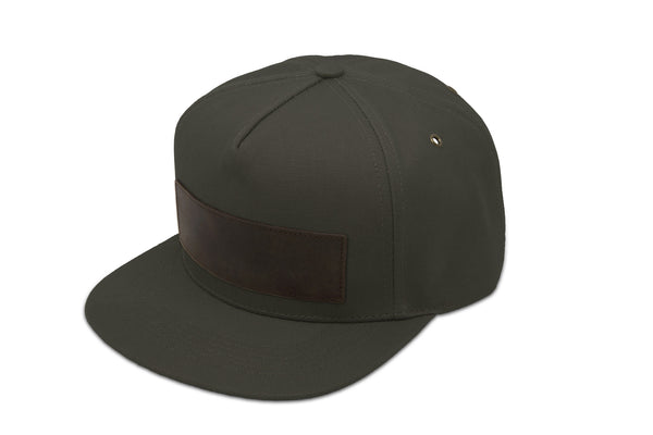 Papa Originals Moss green canvas Cap, luxury snapback, men's and women's premium baseball hat