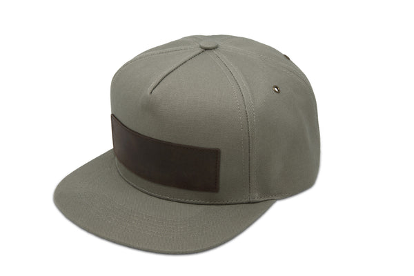 Papa Originals Olive grey canvas Cap, luxury snapback, men's and women's premium baseball hat