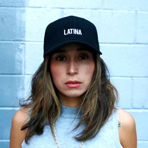 latina baseball cap premium hat papa originals girl model black  gorra casquette hat mexico is the shit