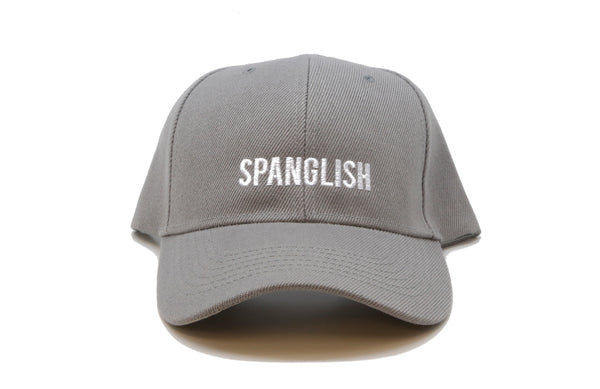 spanglish baseball cap premium hat papa originals front grey