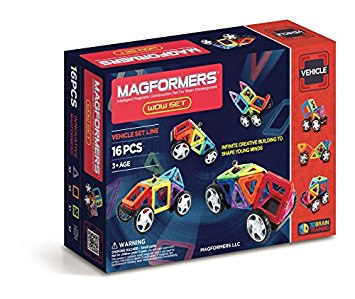 Magformers 16 Piece Vehicle Set