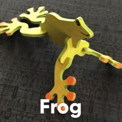 Wooden Puzzle - Frog
