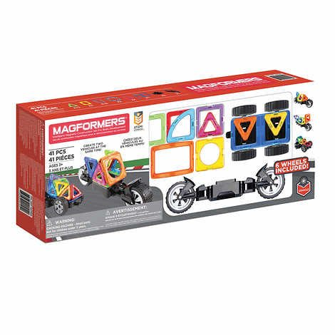Magformers 41-piece Amazing Wheel Magnetic Building Set - tinkrLAB