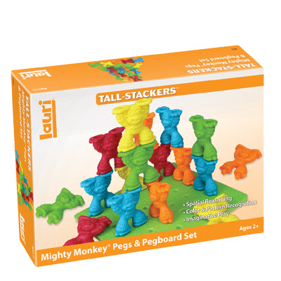 Lauri - Tall Stackers Mighty Monkey Pegs & Pegboard Set - tinkrLAB