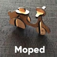 Wooden Puzzle - Scooter
