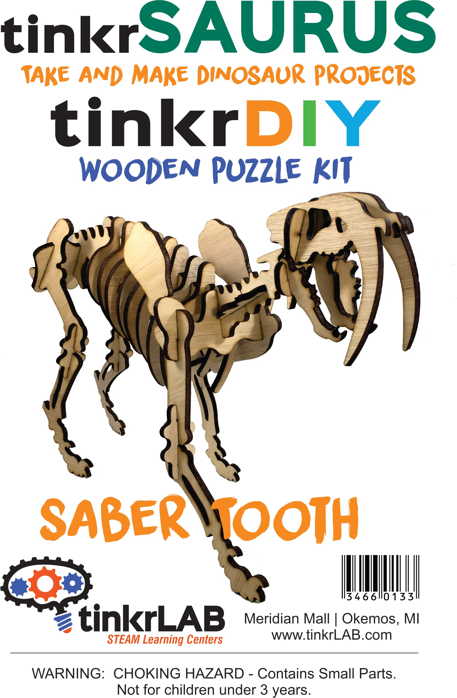 Wooden Puzzle-Saber Tooth