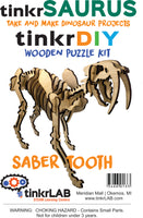 Wooden Puzzle-Saber Tooth - tinkrLAB