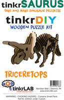 Wooden Puzzle-Triceratops - tinkrLAB