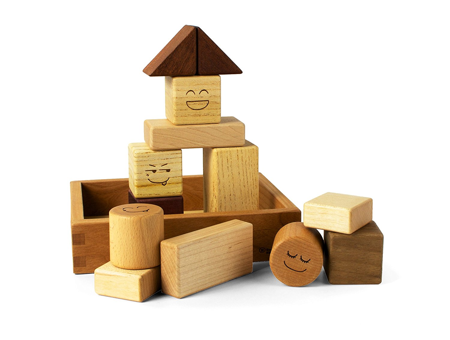 Wooden Rattle Blocks - 13pc
