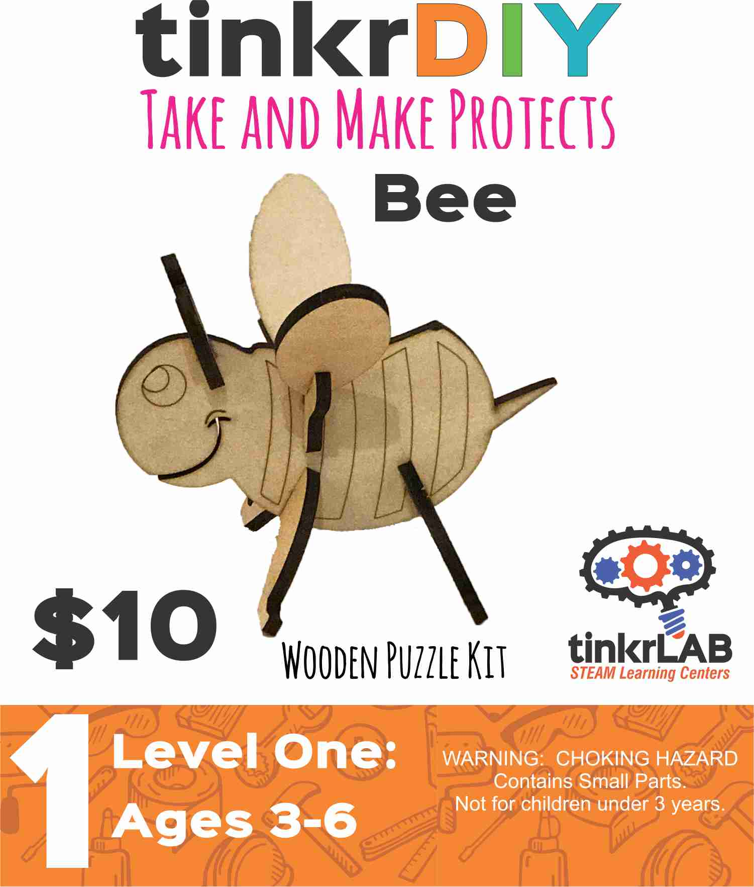 Wood Puzzle - Bee